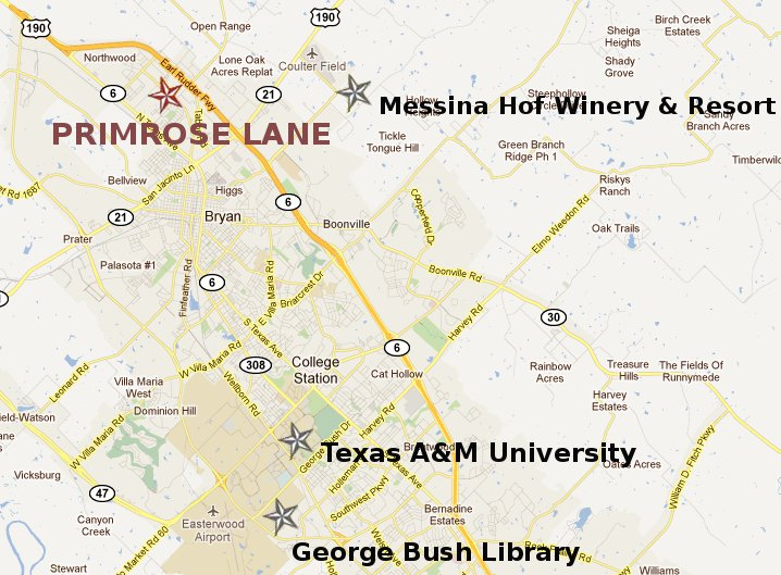 College Station Map Of Texas.Primrose Rv Park Campground Bryan College Station Texas A M
